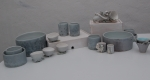 Porcelain and bone china ceramic sculpture, bowls, jugs, dishes