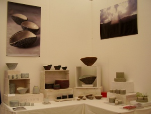 stand at contemporary craft fair bovey tracey 2011