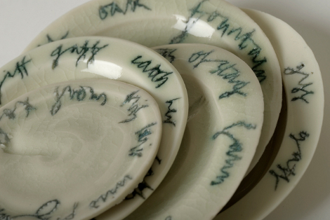 porcelain with text